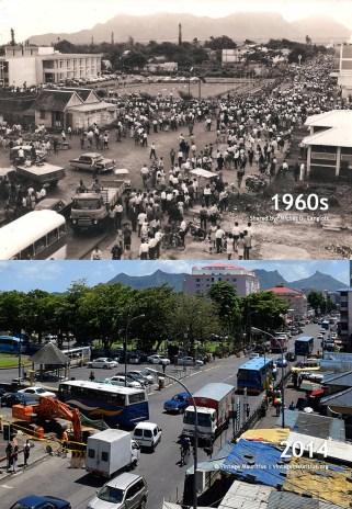 Quatre Bornes - Town Centre - 1960s/2014