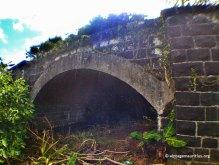 Stone bridge after riviere du poste from under