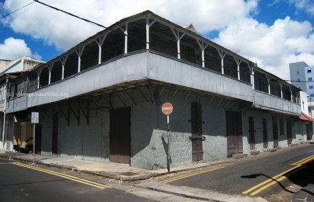 St Louis Street Old Colonial House Port Louis