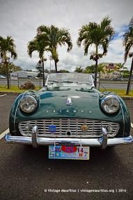 Triump TR3 Classic Vintage Car Mauritius