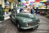 Vintage Valentine Morris Minor Green