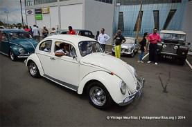 White VW Classic Beetle Vintage Car Mauritius