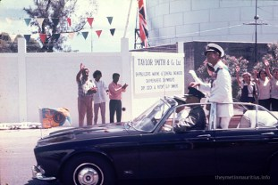 Queen Elizabeth and Prince Philip Visit Mauritius - Mar 1972 (Courtesy: theymetinmauritius.info)