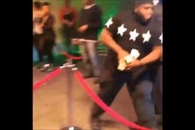 Drake Rushes Into Stadium & Pushes Security Away