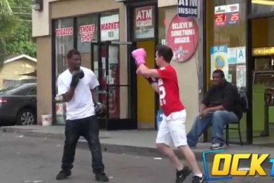Boxing Strangers Prank In Compton