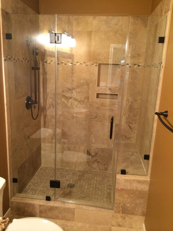 Travertine Tub To Shower Conversion Bathroom Remodeling