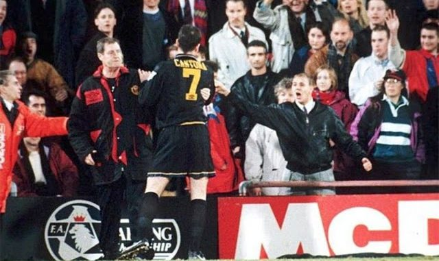 In january 1995, the french forward eric cantona shocked football by attacking an opposition fan during a match between manchester united and crystal palace. January 25 1995 Eric Cantona Kung Fu Kicked A Fan In One Of The Most Infamous Incidents In Premier League History Vintage News Daily