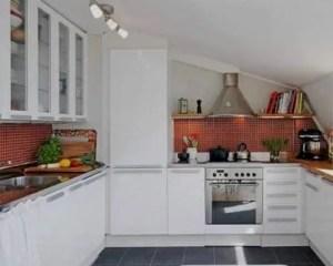 Cocina pequeña en piso