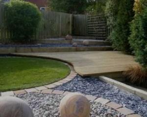 Reformas de exterior hierba y piedra