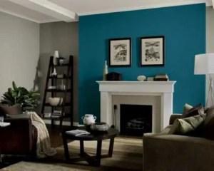 Decoración de chalets uns pared azul