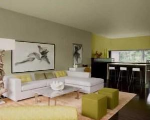 Diseño de interiores de salón y cocina