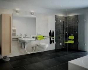 Reformas de cuartos de baño movilidad reducida con inodoro suspendido