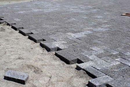 Aplicação de pavimentos em paralelepipedo.