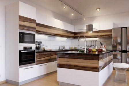 Remodelação de cozinha moderna com ilha.