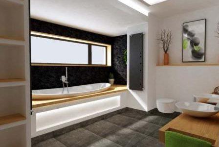 Remodelação de casa de banho moderna.