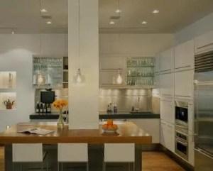 Decoração de cozinha luz baixa
