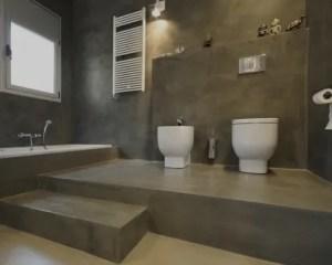 Microcimento e cimento afagado casa de banho