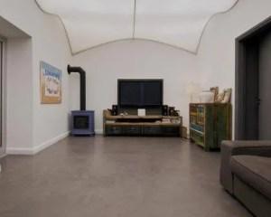 Microcimento e cimento afagado sala