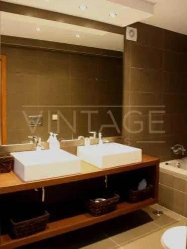 Remodelação de casa de banho lavatório duplo retangular