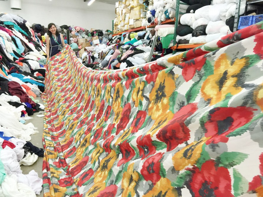 Floral remnant fabric found at the LA Fabric and Garment District | @vintageontap