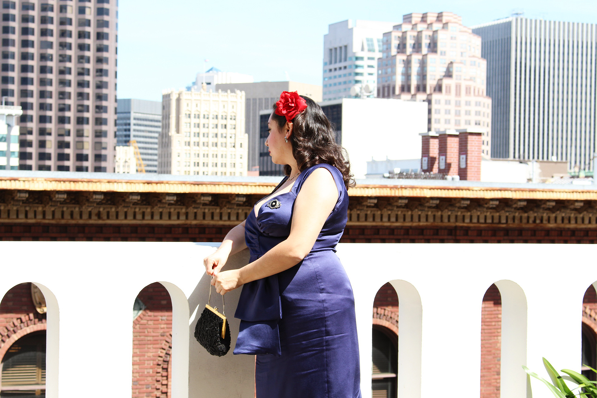 Butterick B5814, Cocktail Dress at the Fairmont Hotel in San Francisco | @vintageontap