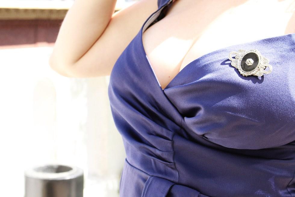 Butterick B5814, Cocktail Dress, bust detailing | @vintageontap