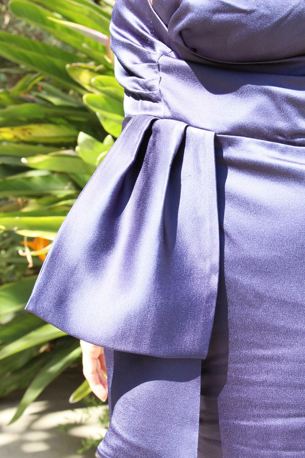 Butterick B5814, Cocktail Dress, waist detailing | @vintageontap