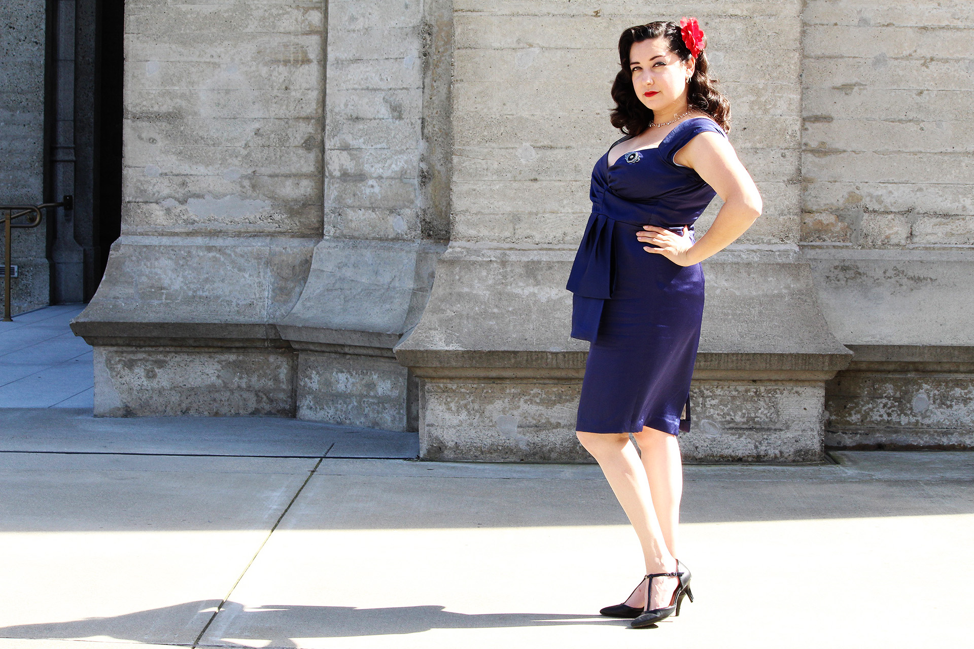 Butterick B5814, Cocktail Dress | @vintageontap