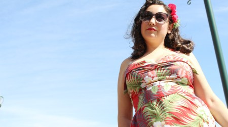 Tiki Dress, Gertie's New Book for Better Sewing, pin up style | @vintageontap
