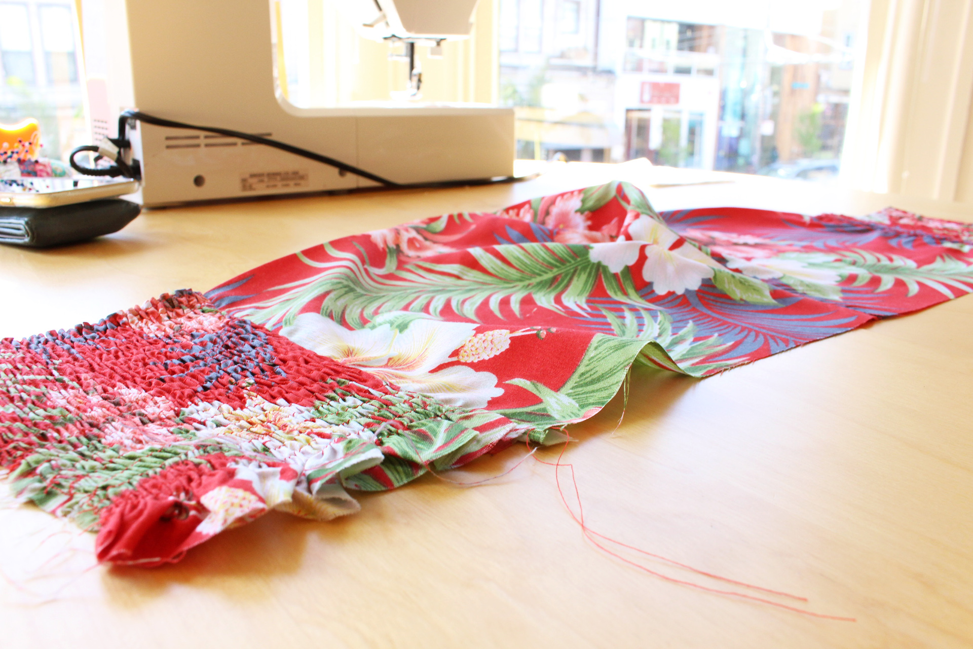Gertie Tiki Dress, Gertie's New Book for Better Sewing, in progress bodice | @vintageontap