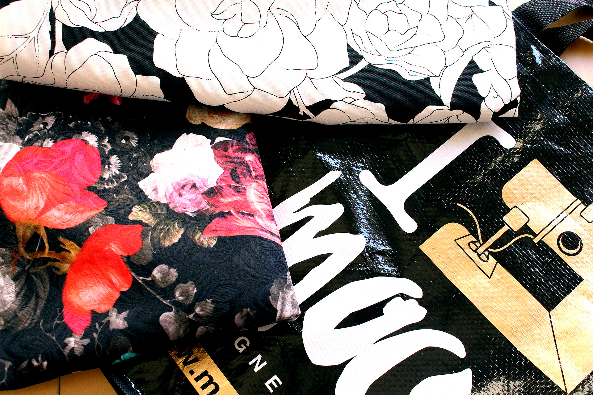 Yummy fabrics purchased at Mood Fabrics in Los Angeles, August 2016 Sewing Pinup Haul | @vintageontap