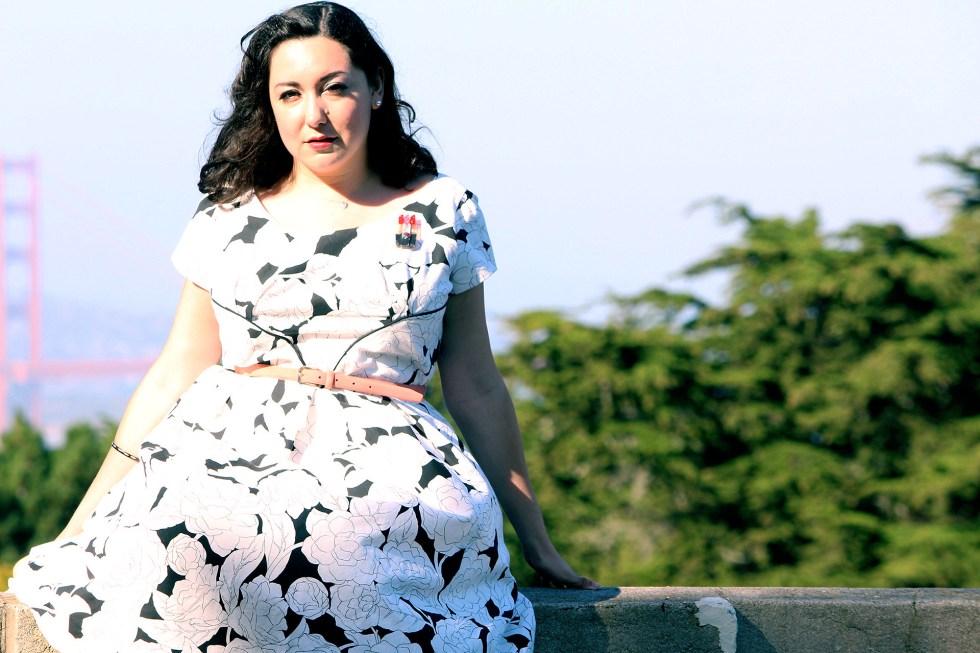 The Colette Rue dress with the Golden Gate Bridge | @vintageontap
