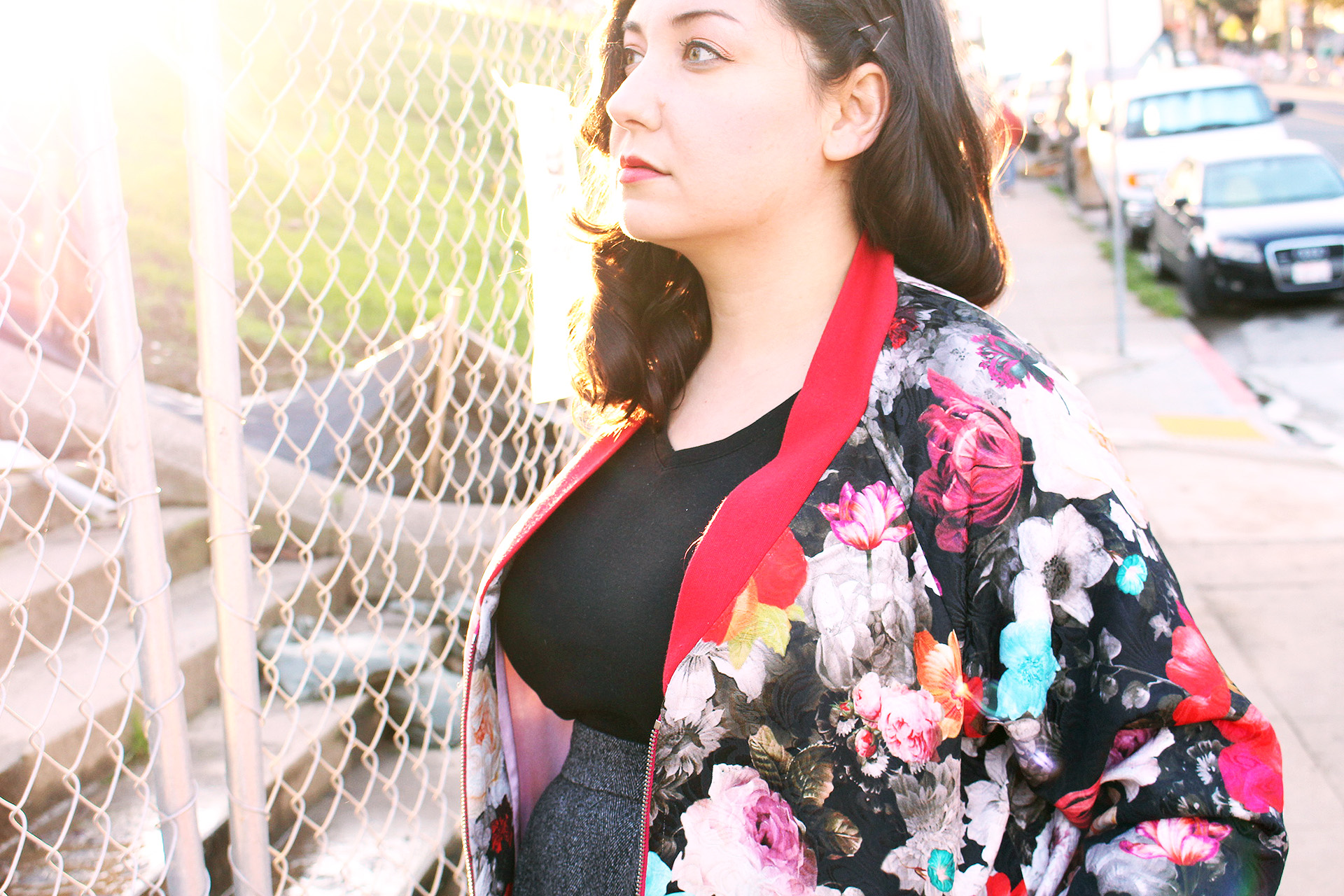 Ribbing detail, Rockabilly Bomber sewn with the Rigel Bomber pattern | @VintageonTap