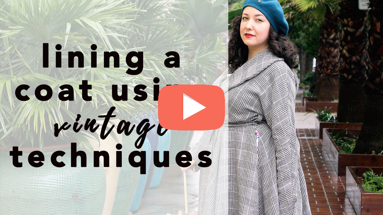 Butterick B5821, Lining a Coat Using Vintage Techniques | Vintage on Tap