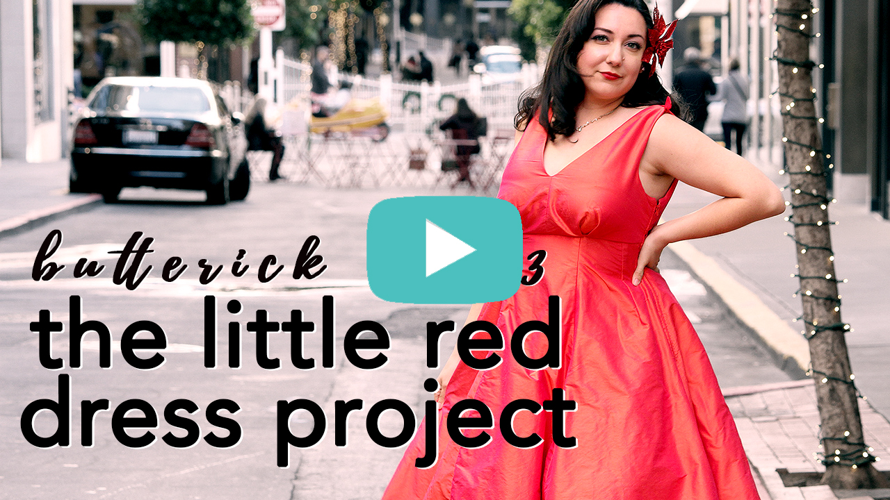 Vintage Butterick B5603 The Little Red Dress Project collab | Vintage on Tap