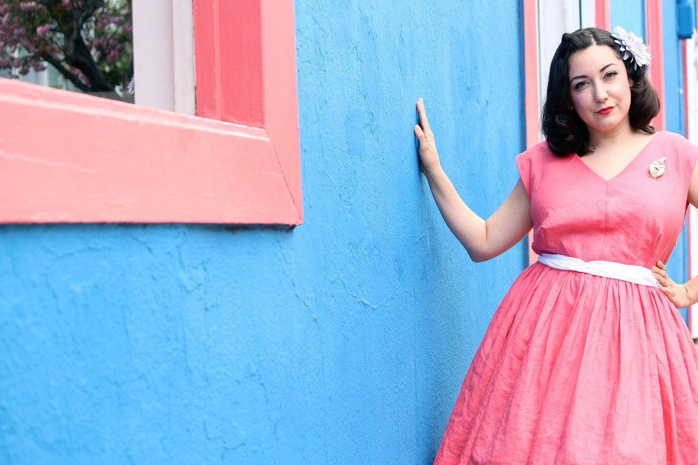 How to sew a retro dress, Vogue V8789 | Vintage on Tap