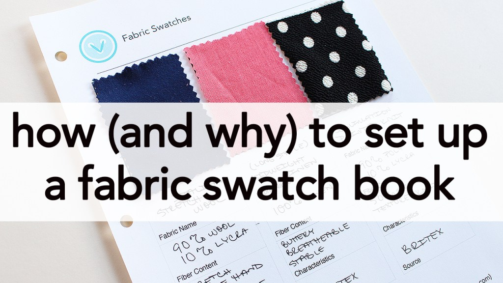 Fabric Swatch Book, Tutorial | Vintage on Tap