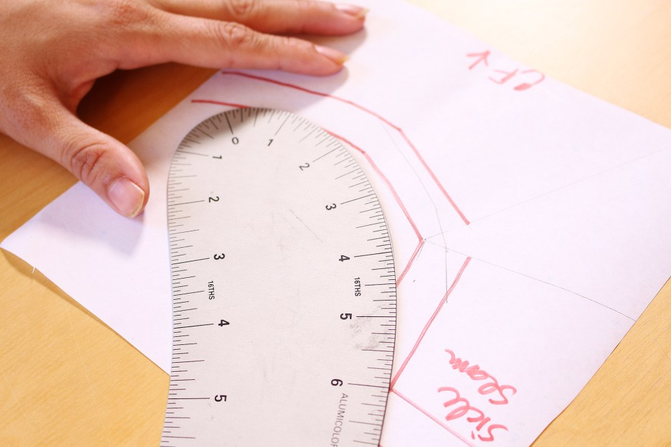 How to use a French Curve, blending curves in armhole | Vintage on Tap