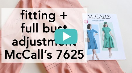 Vintage McCall's 7625 how to fit   Vintage on Tap