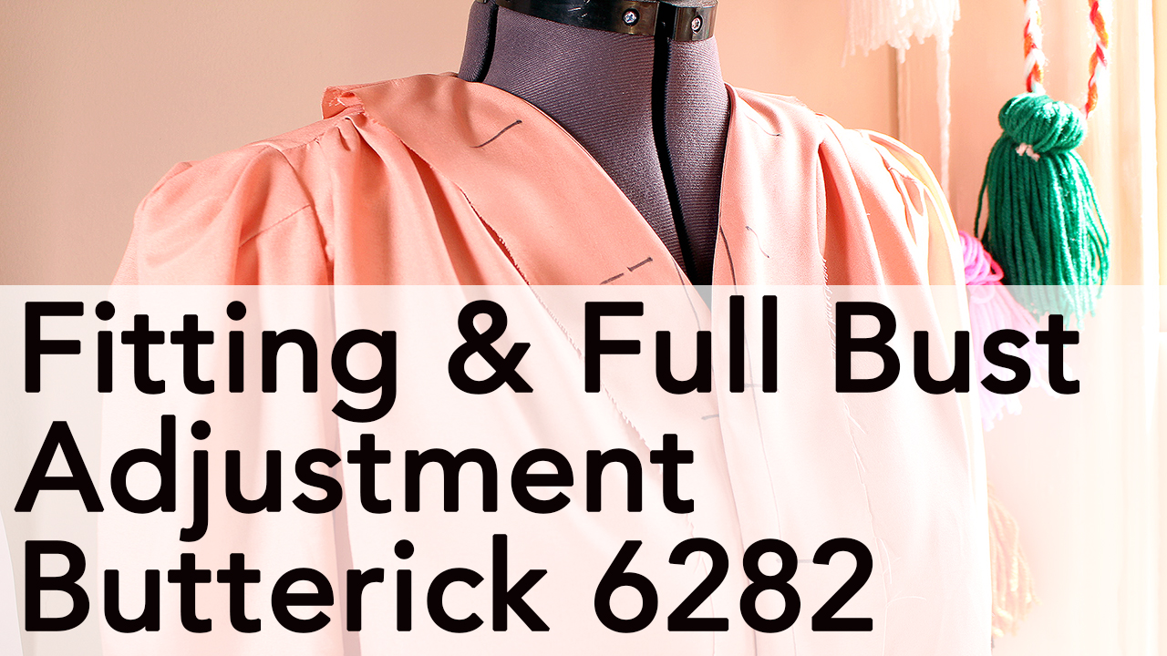 Fitting and Full Bust Adjustment, Vintage Butterick 6282 | Vintage on Tap