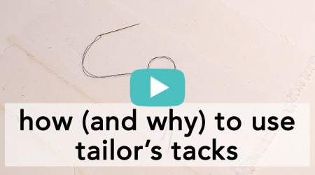 How and Why to Use Tailor's Tacks | Vintage on Tap