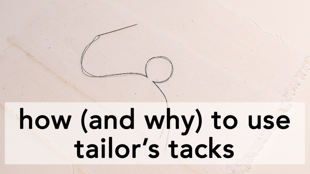 Learn how and why to use Tailor's Tacks in your sewing process! | Vintage on Tap