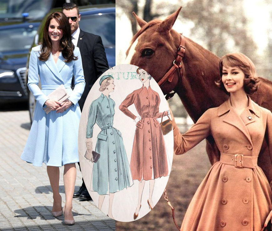 Vintage Inspired Coatdresses, inspiration for V9280 | Vintage on Tap