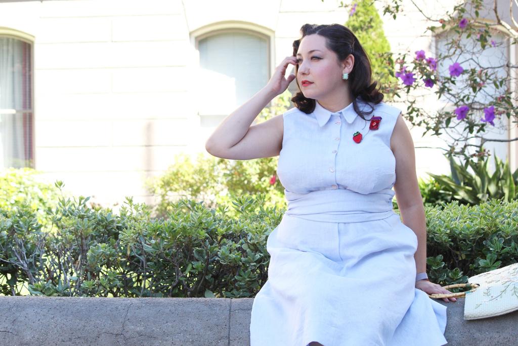 Sewing vintage, 1950s inspired Colette Patterns Penny dress | Vintage on Tap