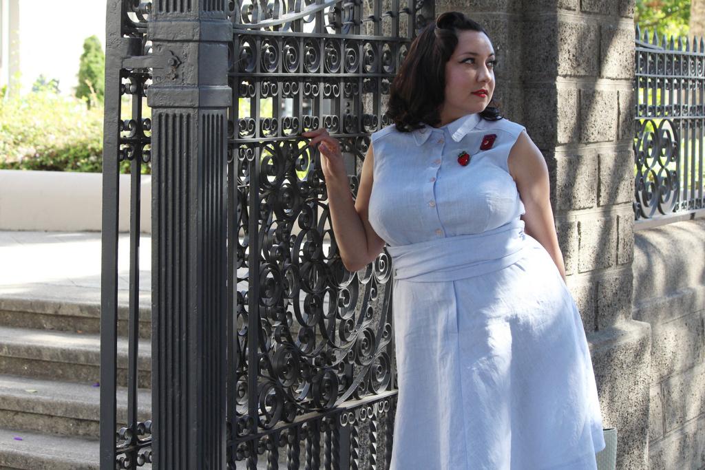 Gorgeous retro fashion dress, pattern by Colette Patterns   Vintage on Tap