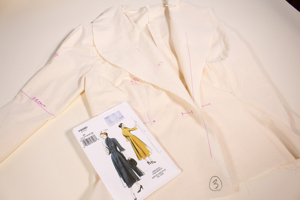 Retro sewing, Vintage Vogue 9280, how to fit a muslin | Vintage on Tap