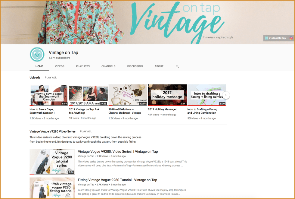 Vintage on Tap YouTube channel | Vintage on Tap