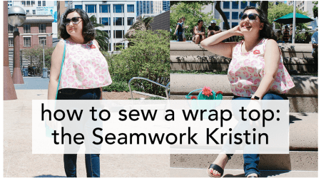 How to Sew a Wrap Top, video tutorial from start to finish! | Vintage on Tap