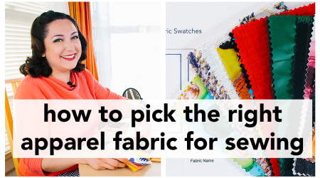 Learn about how to pick fabric for clothes in this video tutorial, walking you through the steps. | Vintage on Tap, Pinup Sewing Blog