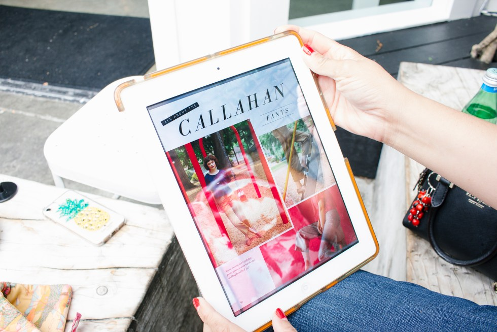 Seamwork Magazine article for the Callahan Pants | Vintage on Tap
